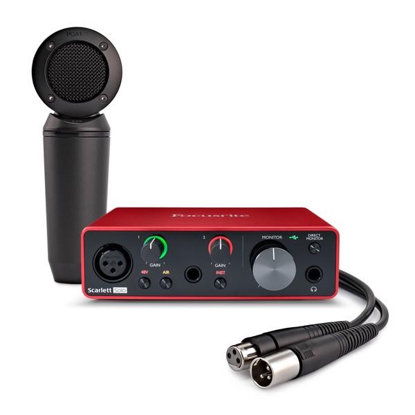 Focusrite Scarlett Solo Interface with Shure PGA181 Condenser