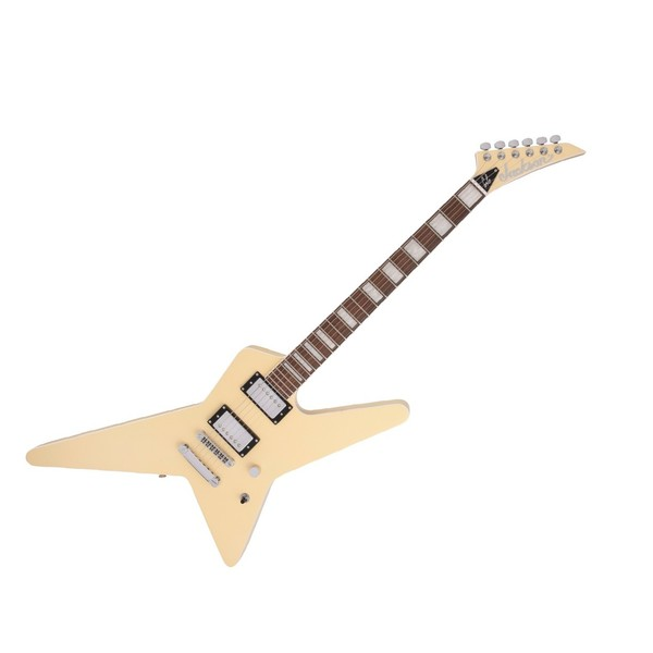 Jackson Pro Gus G Star Signature, Ivory, Front Angled Right