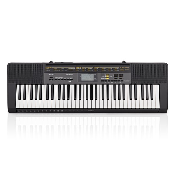 Casio CTK 2500 Portable Keyboard, Black, With Power Supply