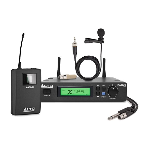 Alto Radius 200 True Diversity Wireless System with Lavalier, Full Package