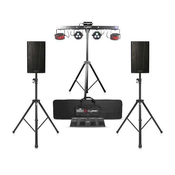 dB Technologies B-Hype 10 Speaker Bundle with Chauvet DJ GigBAR 2