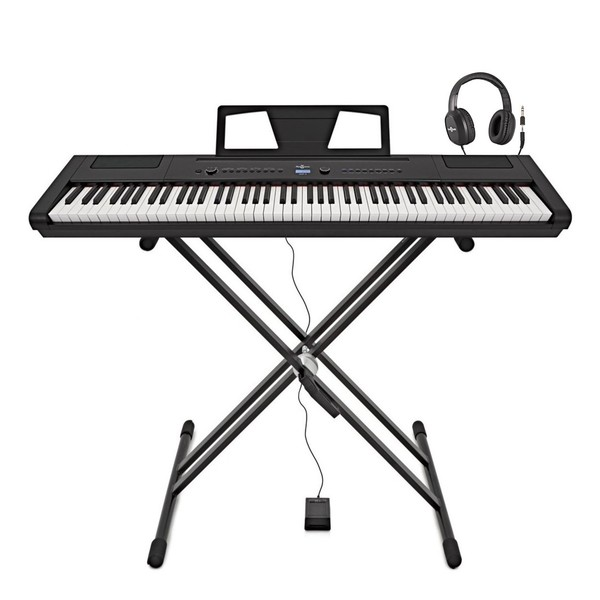 SDP-3 Stage Piano by Gear4music + Stand, Pedal and Headphones