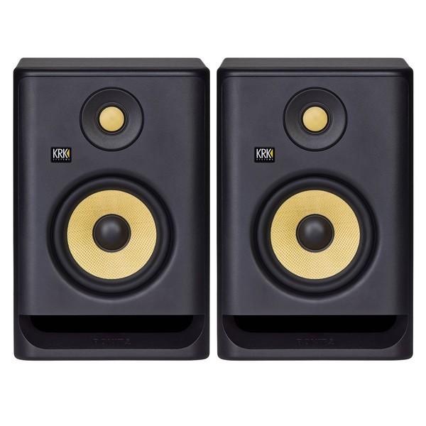 KRK ROKIT RP5 G4 Studio Monitors, Pair - Full Bundle