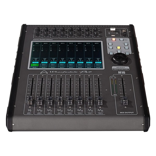 Wharfedale Pro M16 Digital Mixer, Front Tilted