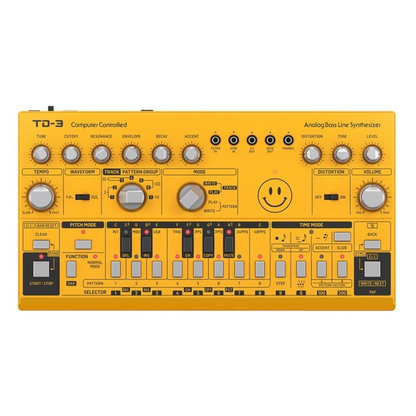 Behringer TD-3-AM Analog Bass Line Synthesizer, LTD Yellow