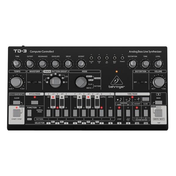 Behringer TD-3-BK Analog Bass Line Synthesizer, Black