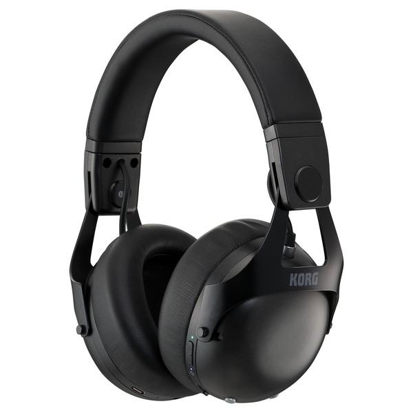 Korg Smart Noise Cancelling DJ Headphones, Black - Front