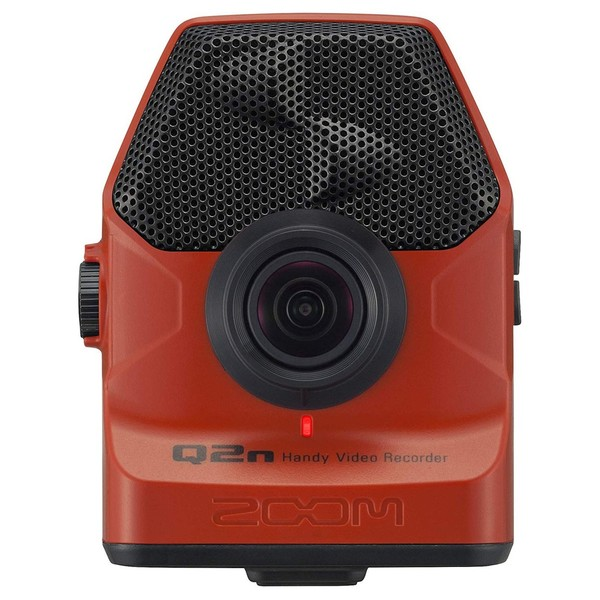 Zoom Q2n Handy Video Recorder, Red - Front