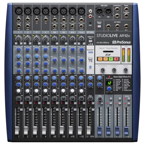 PreSonus StudioLive AR12c USB-C Mixer - Top