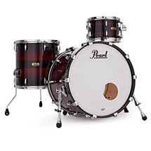 Pearl Masters MRV 3pc Shell Pack, Red Burst Triband