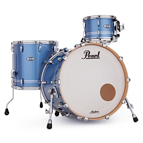 Pearl Masters Maple Complete 3pc Shell Pack, Chrome Contrail