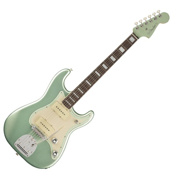 Fender Parallel Universe II Jazz Strat, Mystic Surf Green - front