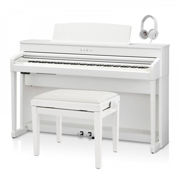Kawai CA79 Digital Piano Package, Satin White