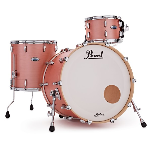 Pearl Masters Maple Complete 3pc Shell Pack, Satin Sakura Coral