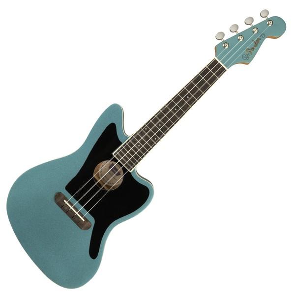 Fender Fullerton Jazzmaster Ukulele, Tidepool - front