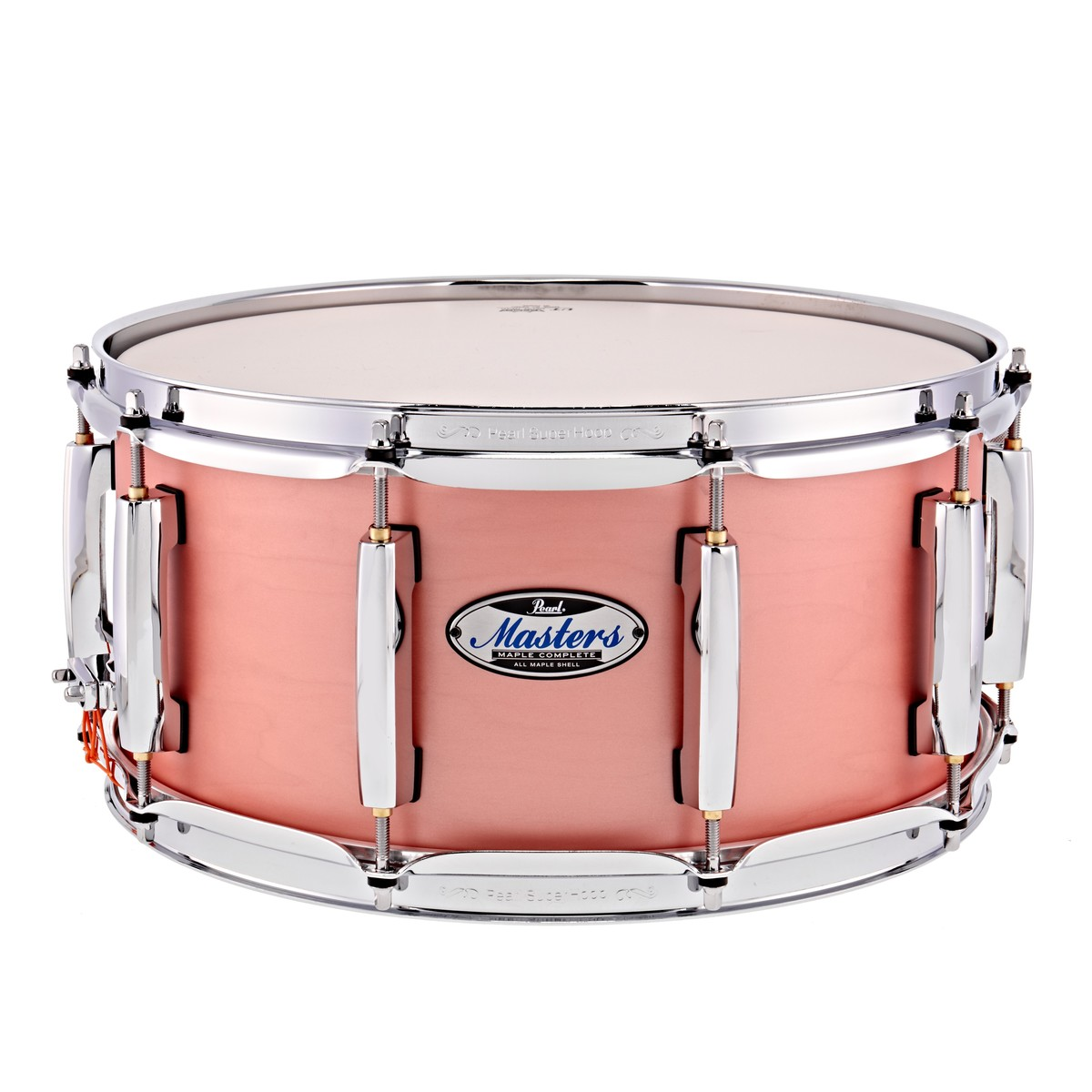 Click to view product details and reviews for Pearl Masters Maple Complete 14 X 65 Snare Drum Satin Sakura Coral.