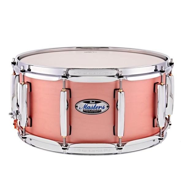 "Pearl Masters Maple Complete 14 x 6.5"" Snare Drum, Satin Sakura Coral"