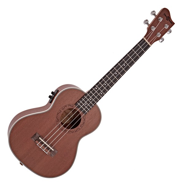 Sapele Tenor Electro-Ukulele by Gear4music