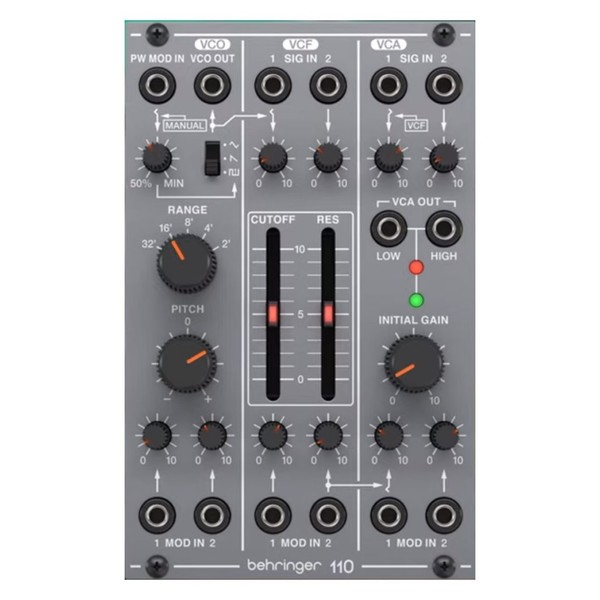 Behringer System 100 110 Synth Voice with VCO, VCA and filter