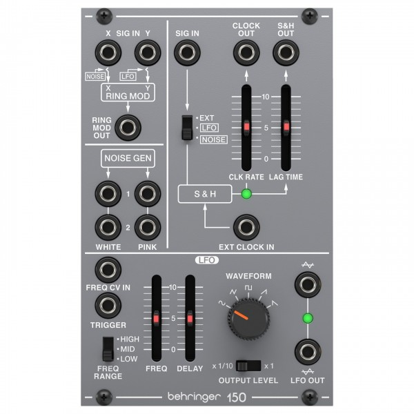 Behringer System 100 150 Ring Mod/Noise/S&H/LFO - Top