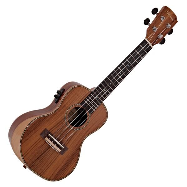 Hartwood Sonata Armrest Electro-Concert Ukulele, AA Solid Koa