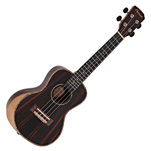 Hartwood Sonata Armrest Concert Ukulele, AA Solid Ebony