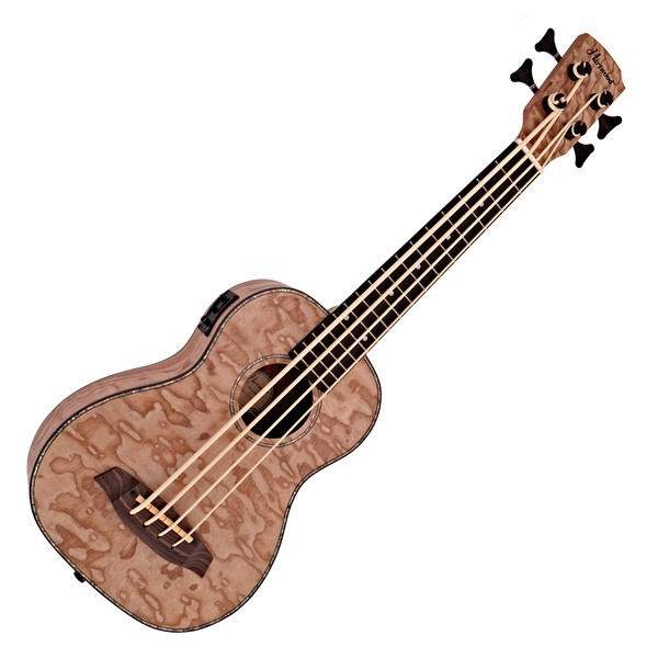 Electric Ukulele Bass by Gear4music, Curly Willow