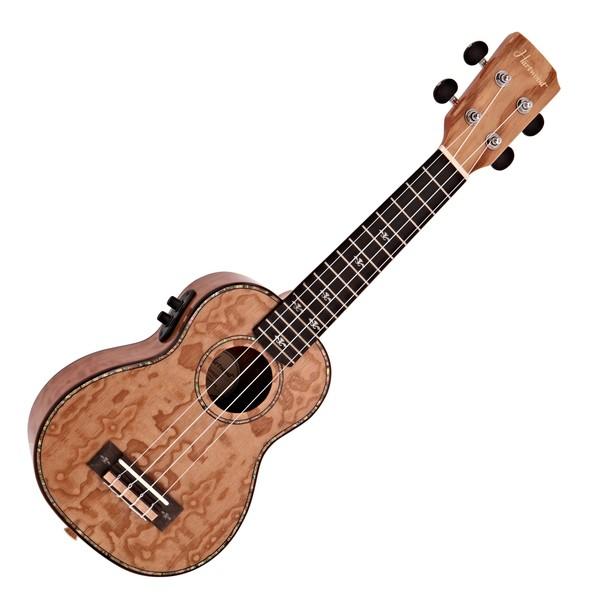 Hartwood Sonata Soprano Electro-Ukulele, Quilted Ash
