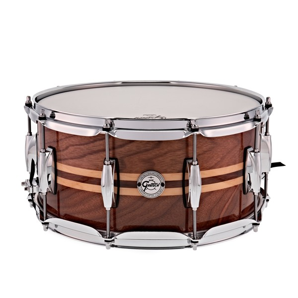 Gretsch 14 x 6.5 Silver Series Snare Drum, Walnut with Maple Inlay