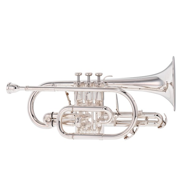 Besson Sovereign BE928G Bb Cornet, Silver Plated