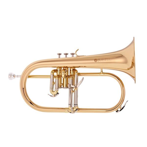 Jupiter JFH1100 Flugel Horn, Clear Lacquer