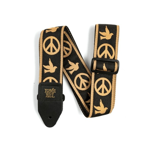 Ernie Ball Polypro Jacquard Strap, Peace Love Dove