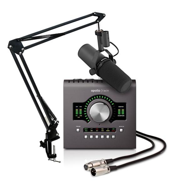 Universal Audio Apollo Twin Duo MkII, Thunderbolt with Shure SM7B