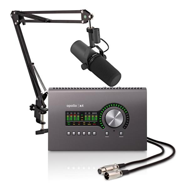 Universal Audio Apollo x4 Thunderbolt with Shure SM7B