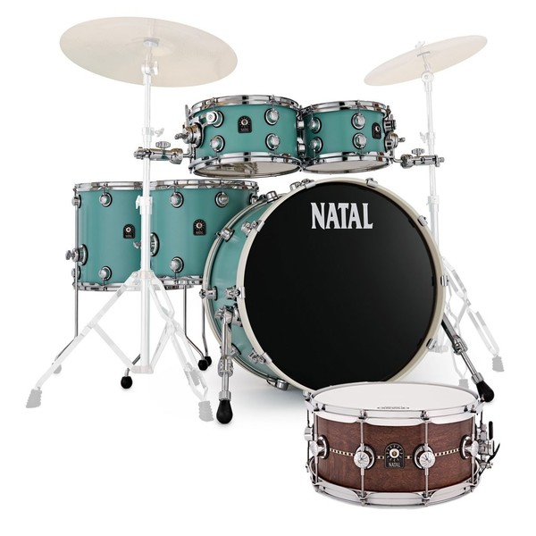 Natal Cafe Racer Ltd Edition Shell Pack w/Free Snare, Sea Foam Green