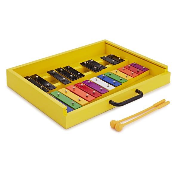 Compact Glockenspiel by Gear4music, Rainbow / Black Keys