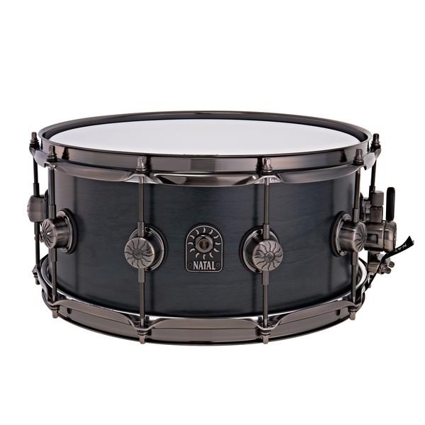 """Natal Originals Walnut 14 x 6.5"""" Snare Drum, Cerulean Blue"""