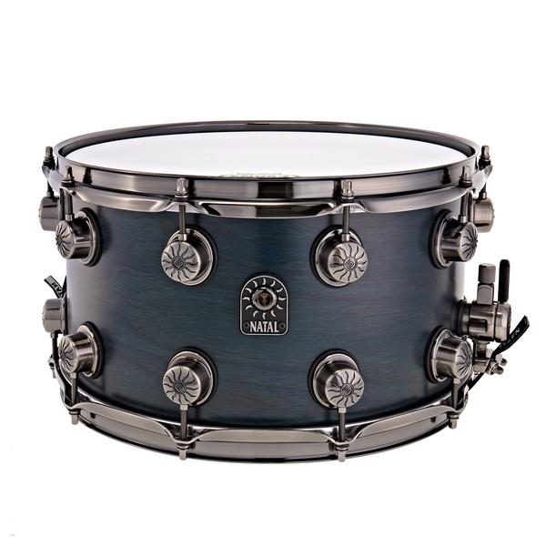 """Natal Originals Walnut 14 x 8"""" Snare Drum, Cerulean Blue"""
