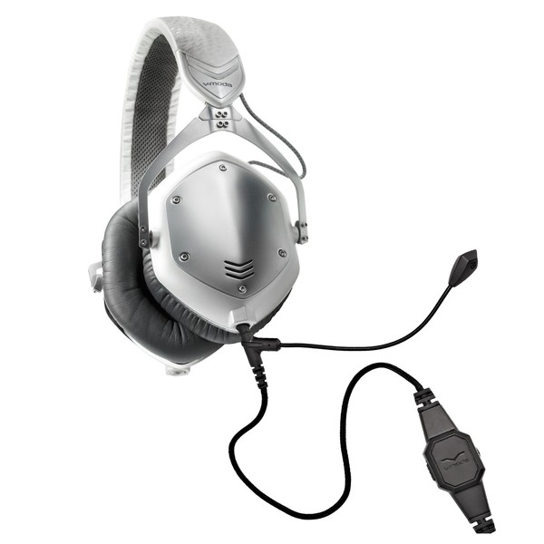 V-Moda Crossfade M-100 Gaming Headset Bundle, White Silver - Full Bundle