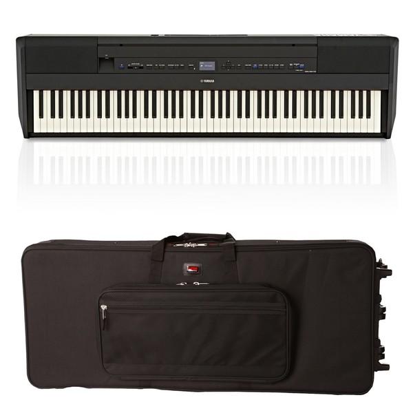 Yamaha P515 Digital Piano, Black, Gator Case Bundle