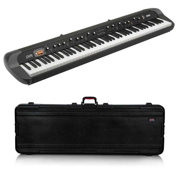 Korg SV1 88 Note Stage Vintage Piano, Black, Gator Case Bundle