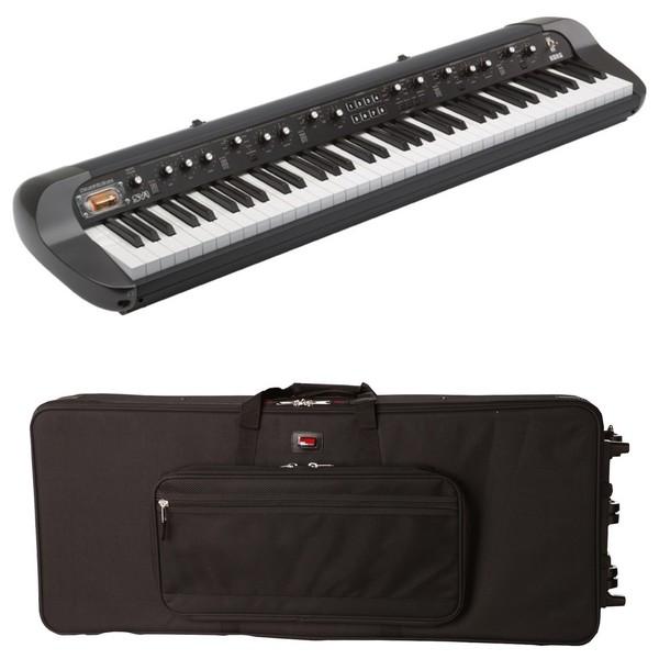 Korg SV1 73 Note Stage Vintage Piano, Black, Gator Case Bundle