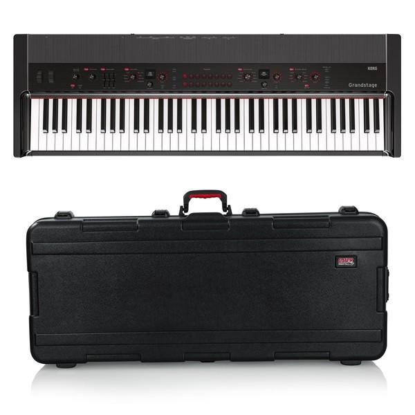 Korg Grandstage 73 Stage Piano, Gator Case Bundle