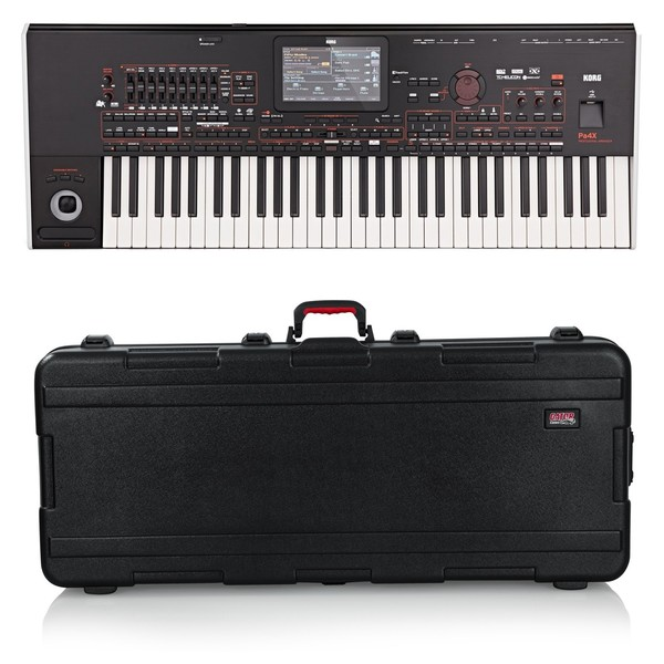 Korg Pa4X 61 Professional Arranger Keyboard, Gator Case Bundle