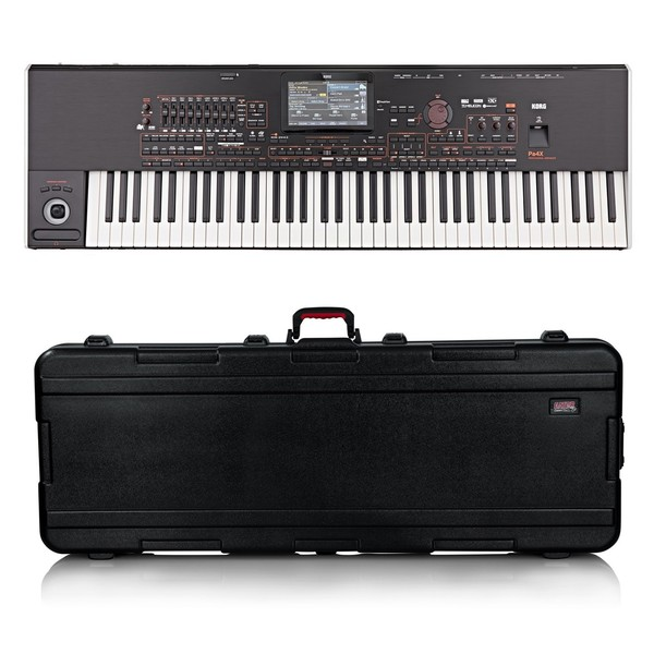 Korg Pa4X 76 Professional Arranger Keyboard, Gator Case Bundle