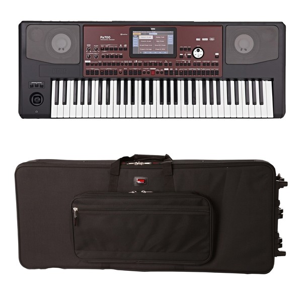 Korg Pa700 Professional Arranger Keyboard, Gator Case Bundle