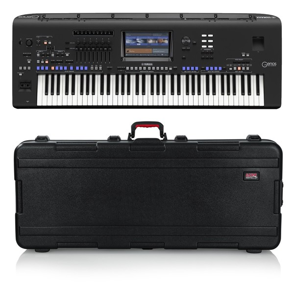 Yamaha Genos Digital Workstation Keyboard, Gator Case Bundle