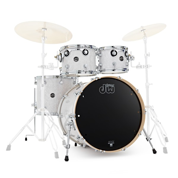"""DW Drums Performance Series 22"""" 4 Piece Shell Pack, White Marine"""