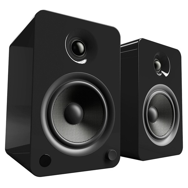 Kanto YU6 Powered Bookshelf Speakers, Gloss Black - Main