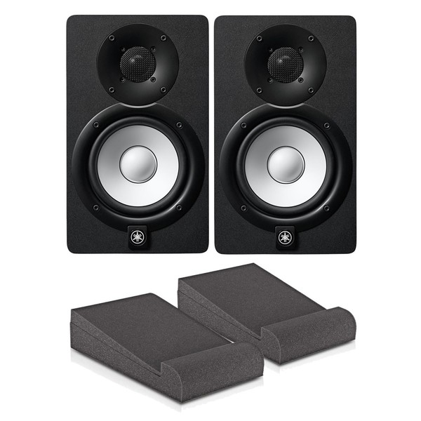 Yamaha HS5 Active Studio Monitors (Pair) with Isolation Pads